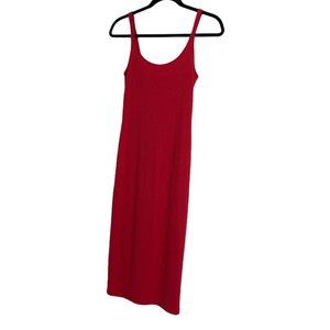 Urban outfitters fitted red cami midi dress